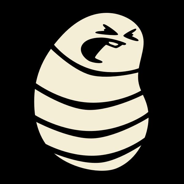 Angry maggot vector image