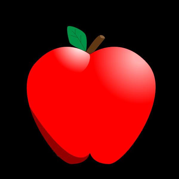 Cartoon red apple vector clip art