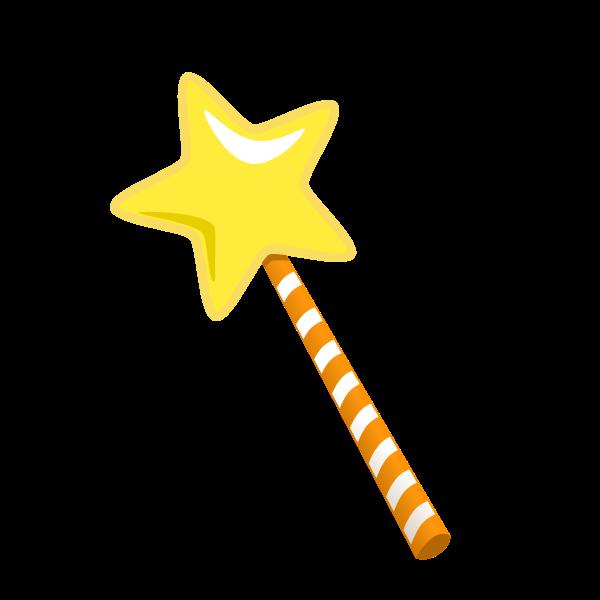 Magic wand cartoonish