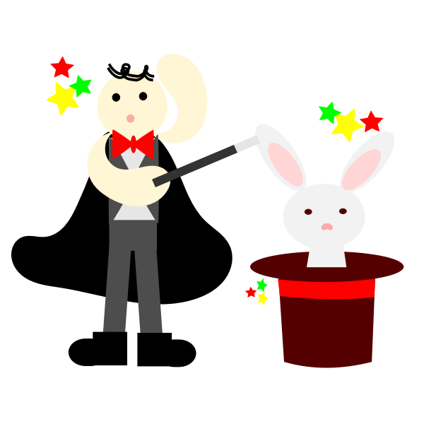 magician with a rabbit in hat