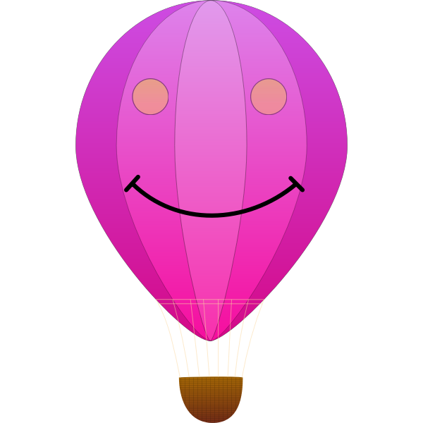 Smiling pink balloon vector image