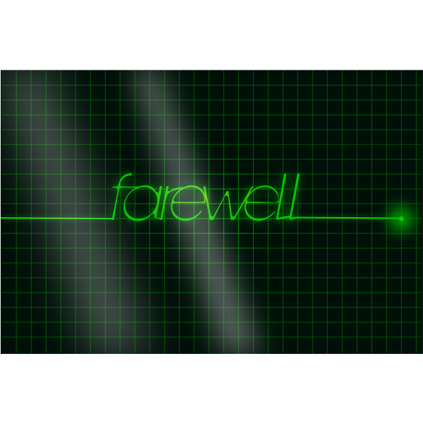 Vector image of a farewell