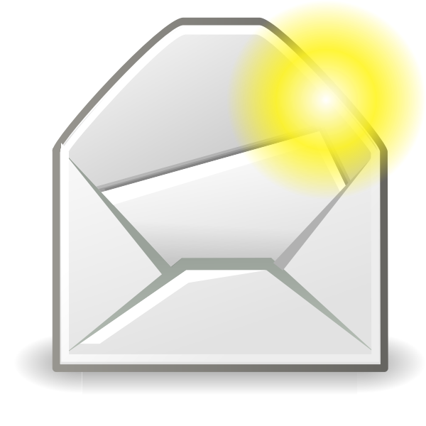 New mail message icon vector illustration