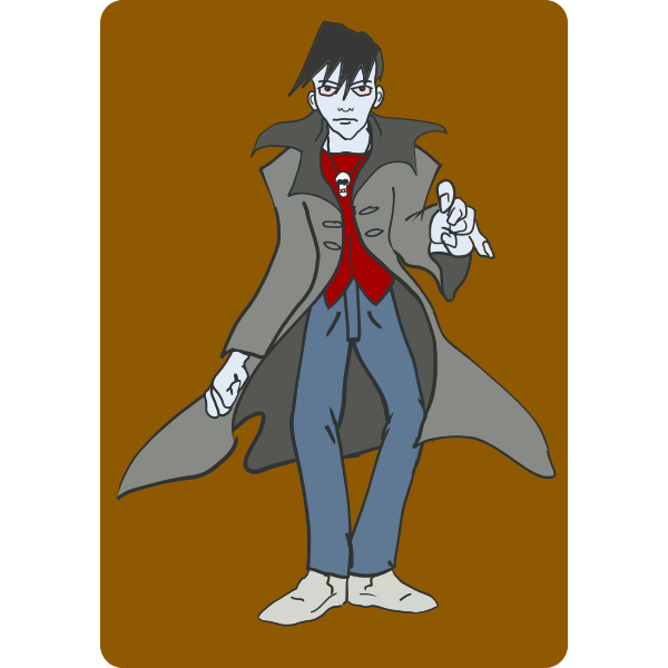 Punk vampire vector graphics
