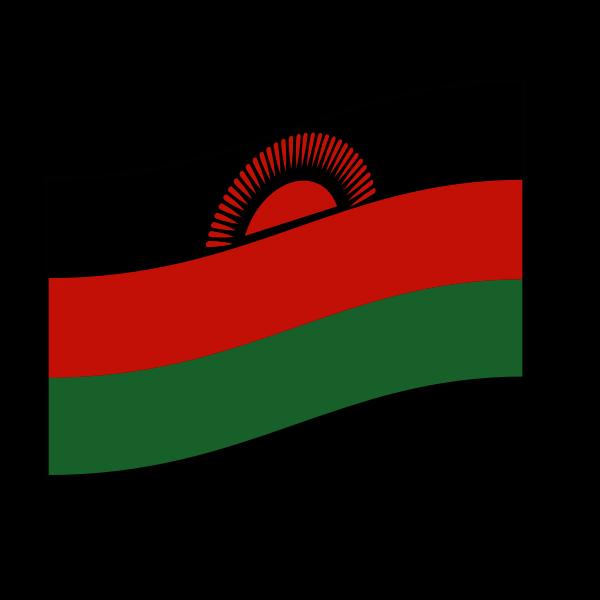 Malawi vector flag