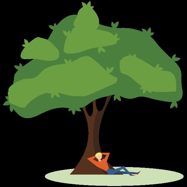Man under the tree
