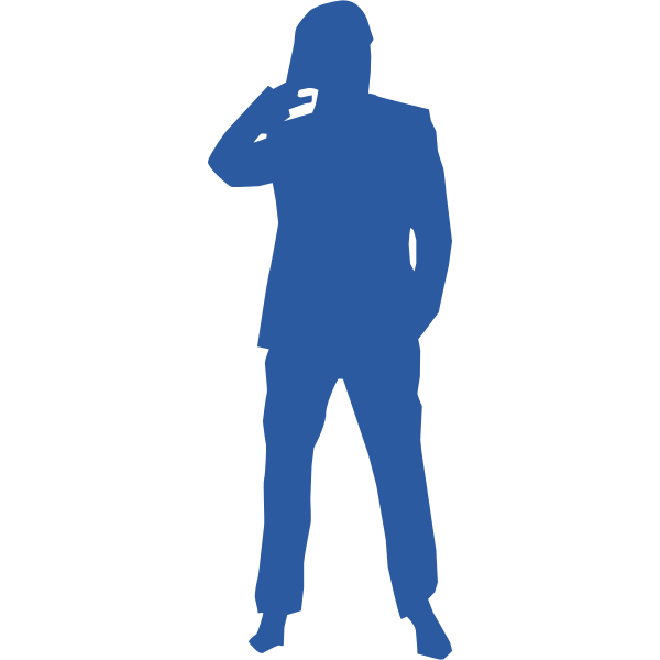 Thinking man silhouette vector image