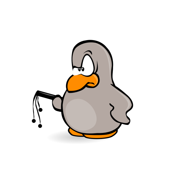 Vector graphics of angry penguin