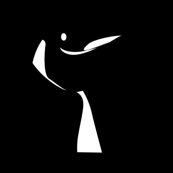 Linux mascot profile vector image