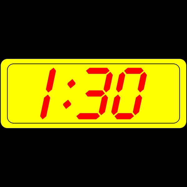 Digital clock display vector image