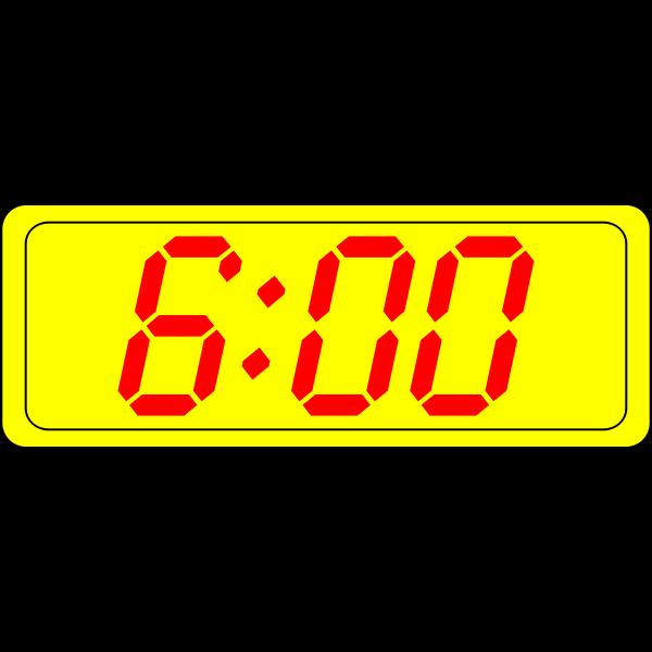 Digital clock display vector illustration
