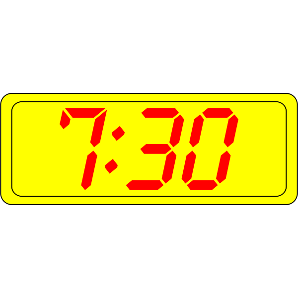 Digital clock display vector clip art