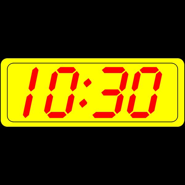 Digital clock display vector drawing