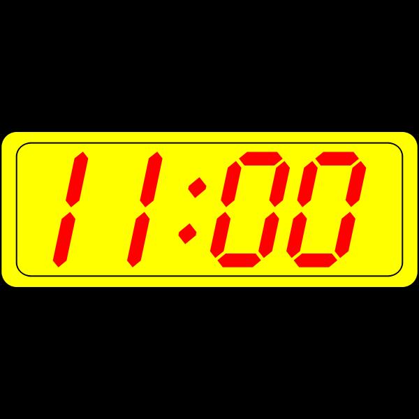 Digital clock display vector graphics