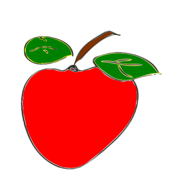 Vector illustration of weird shaped apple