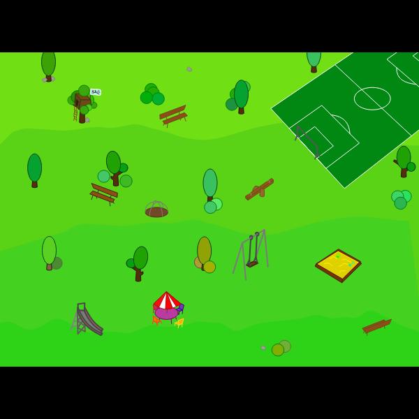 Park vector illustration