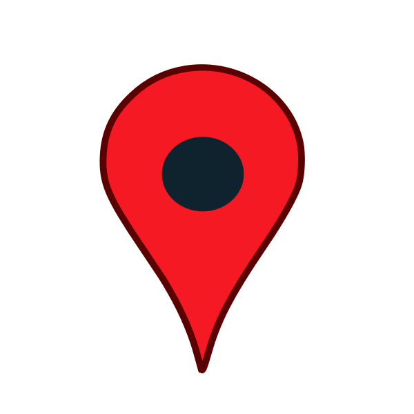 Map location pin in red color