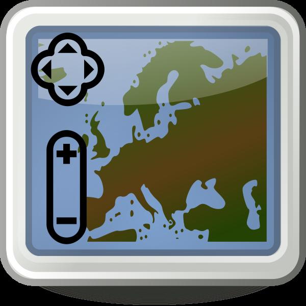 Tango style map application icon vector clip art