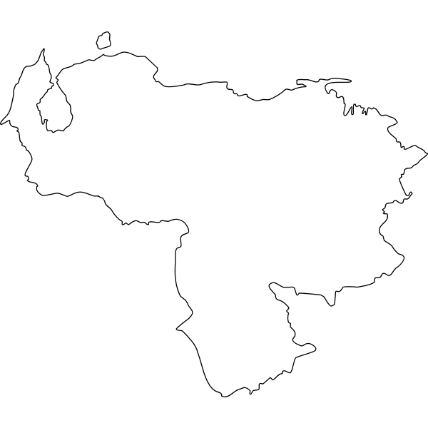 Map of Venezuela vector clip art