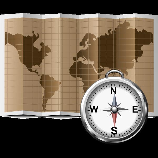 Map icon vector illustration