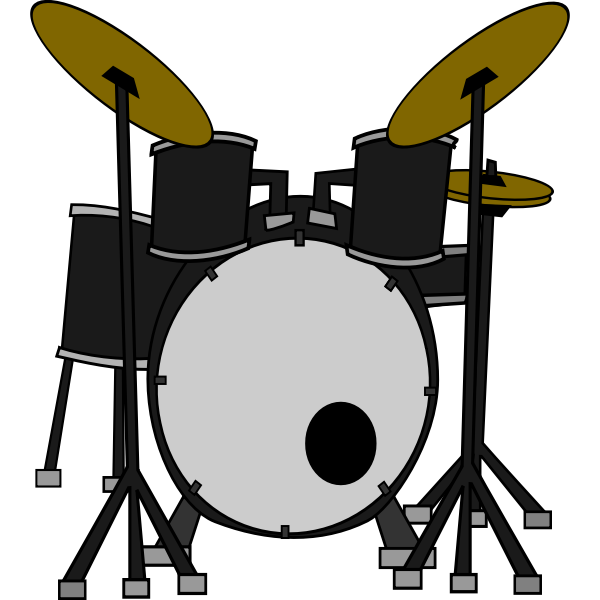 Drums kit vector graphics