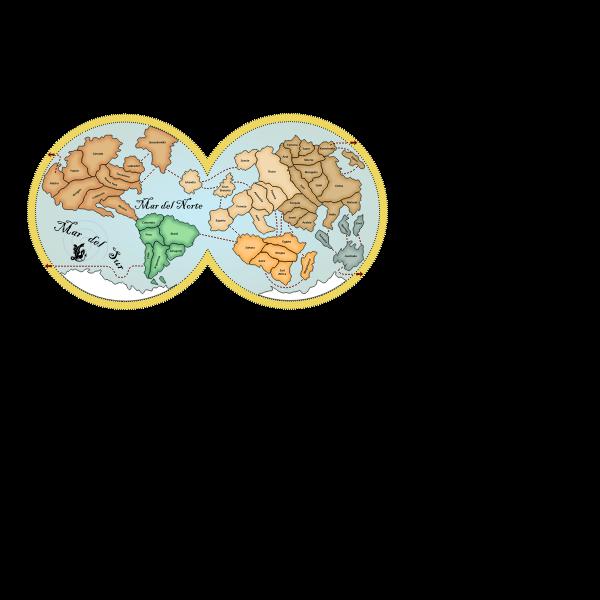 Globe map of the world vector illustration