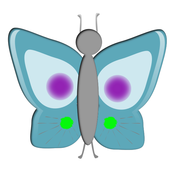 Blue butterfly image