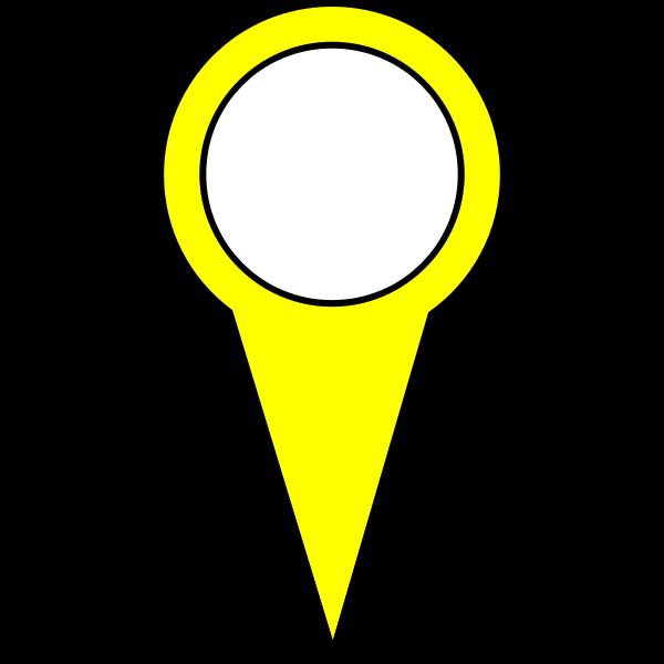 Yellow pin vector image