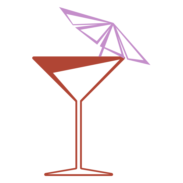 Martini glass vector clip art