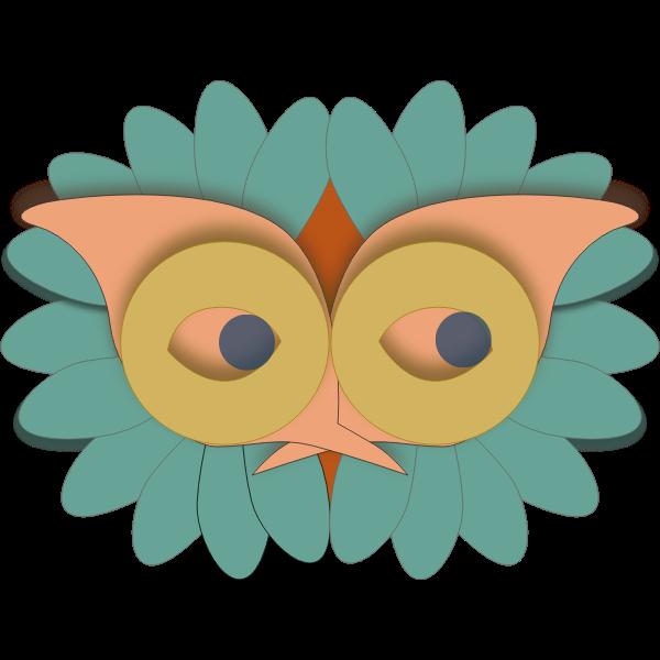 Bird mask vector image