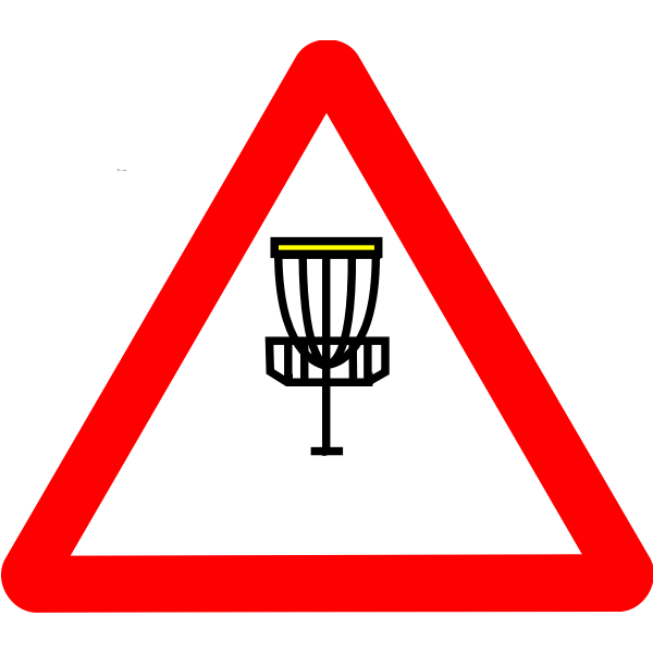 Disc golf roadsign vector image