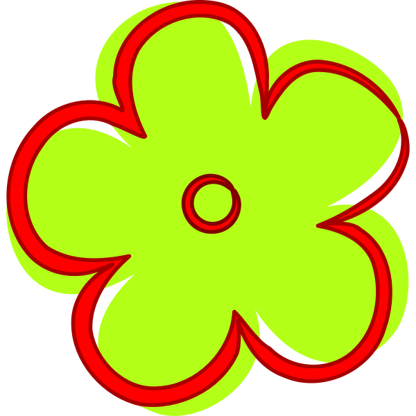 Cartoon green flower vector image