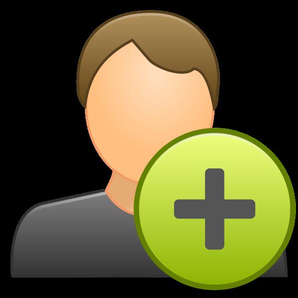 Vector clip art of add contact icon