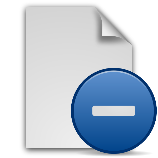 Minus document icon