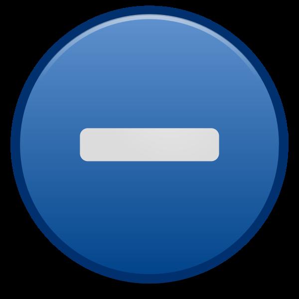 Minus emblem icon
