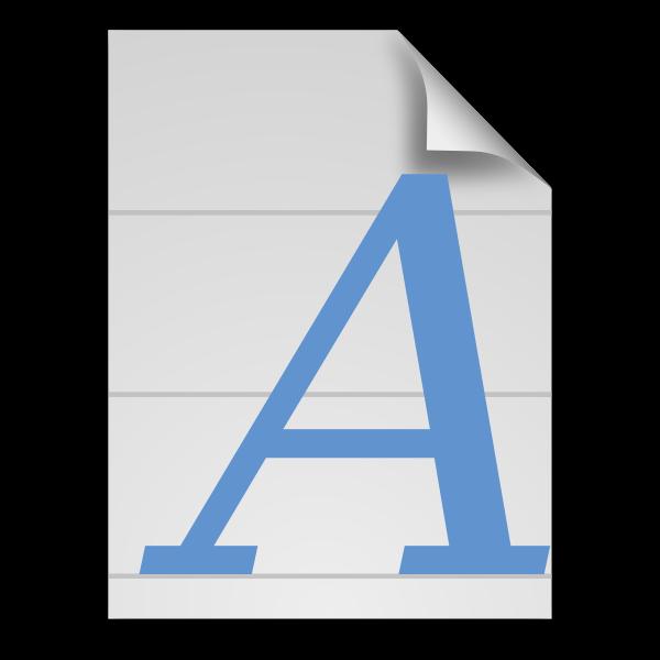 Generic font icon