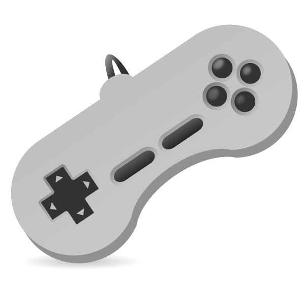 Vector illustration of game console two hand joystick