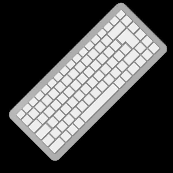 Grey computer keyboard
