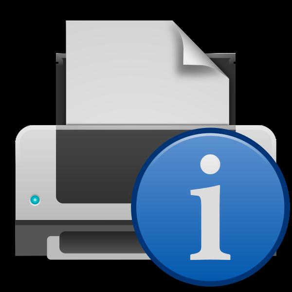 Printer info icon