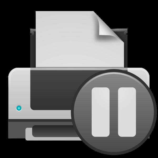 matt icons printer paused