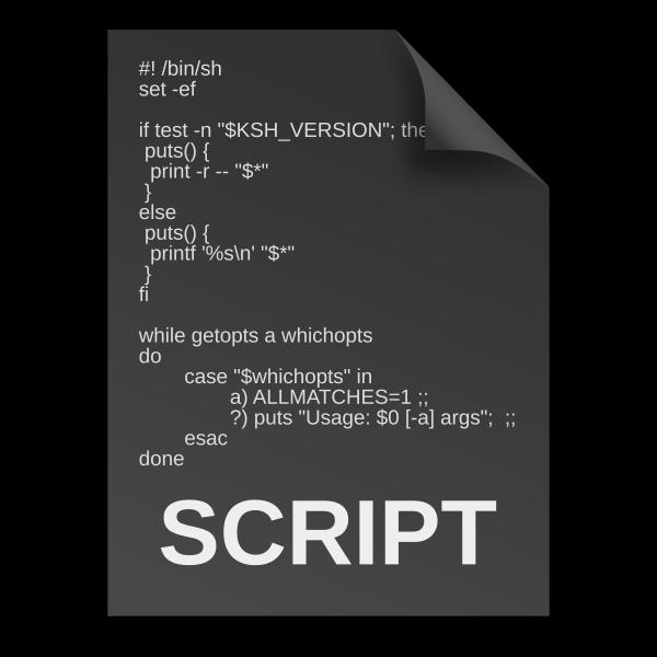 matt icons text x generic script outlines