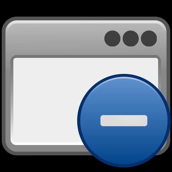 matt icons window minus