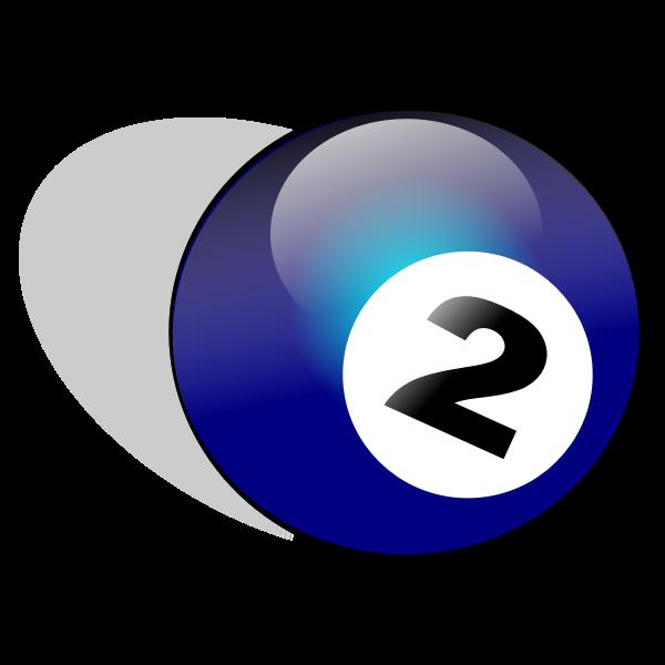 Snooker ball vector drawing