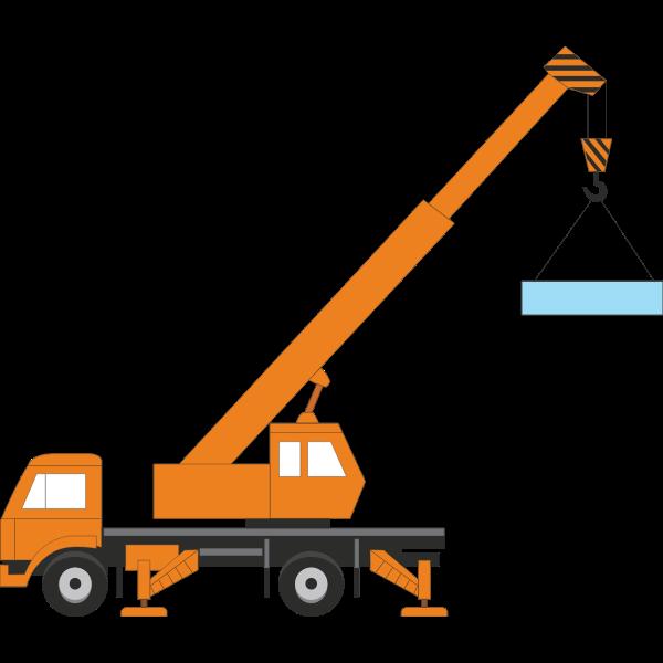 Vector illustration of a crane