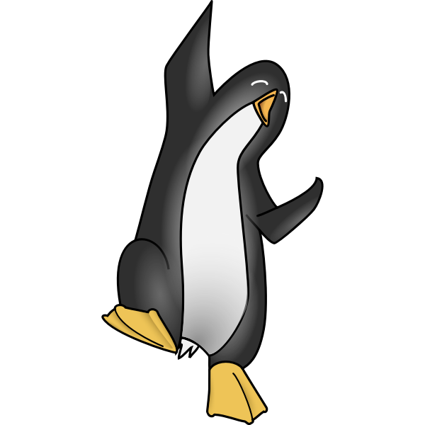 Hapy penguin vector image