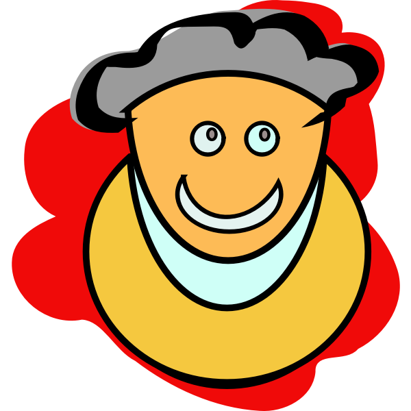 A grandmother smiling vector graphics