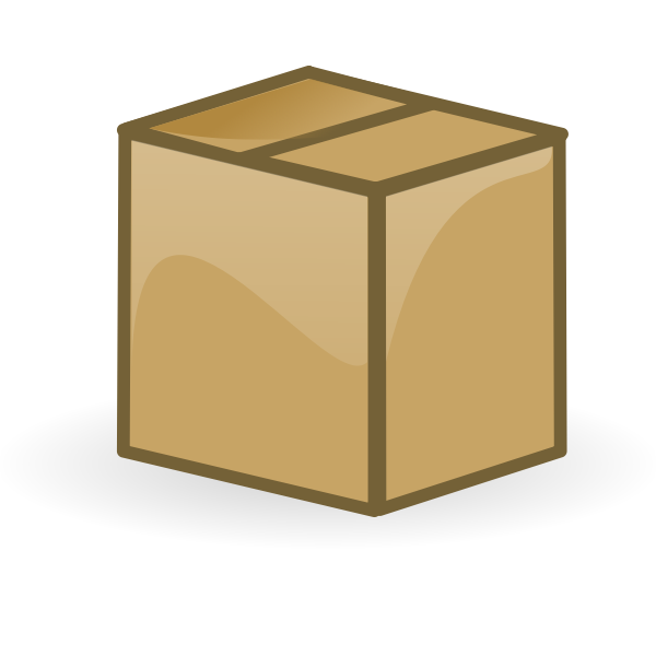 Vector illustration of closed brown cardboard box