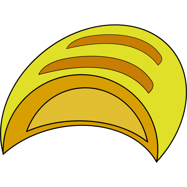 Vector image of loaf of bread