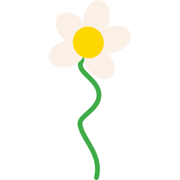 Flower vector drawing