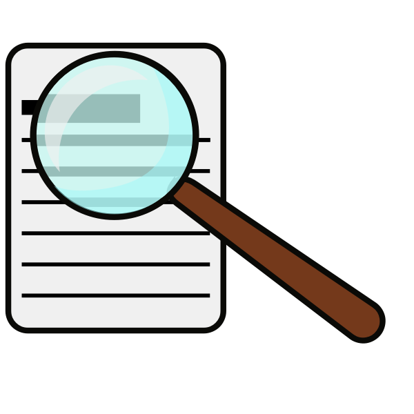 Vector clip art of magnifying glass
